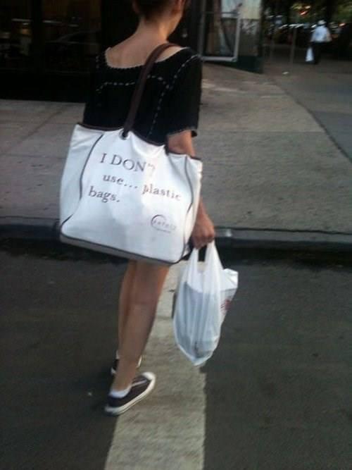 Shopping Bag Irony