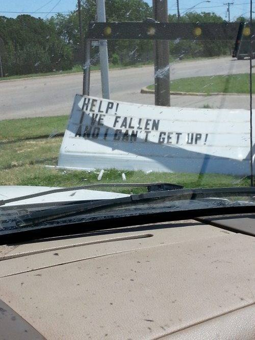 Sign Calls Out For Help