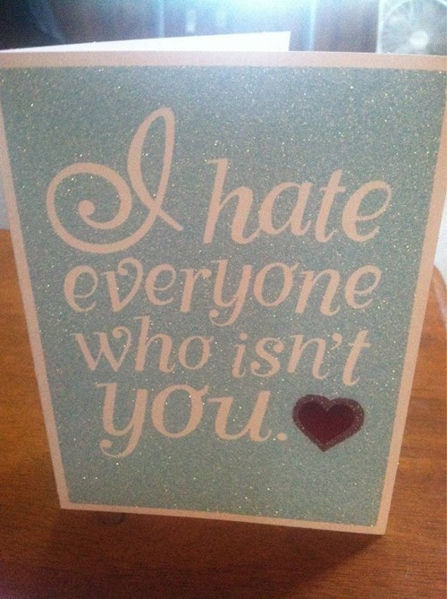 A Love And Hate Valentines Card