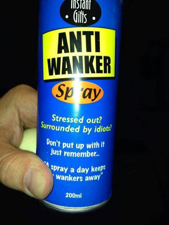 ranging between 10 and 255 characters Anti-wanker-spray