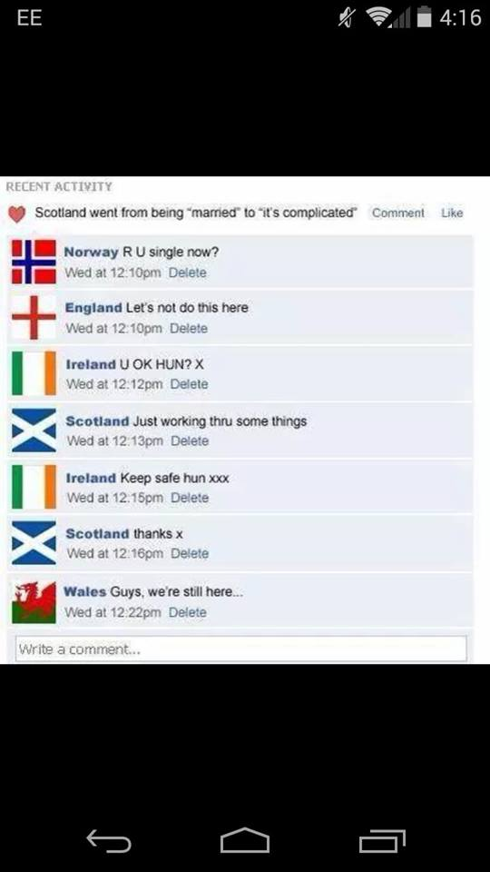 Scotlands Relationship Is Complicated