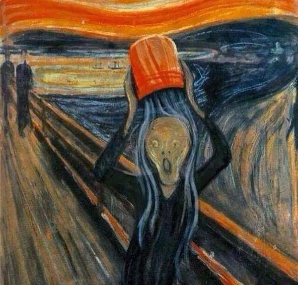 The Scream Iced Water Challenge
